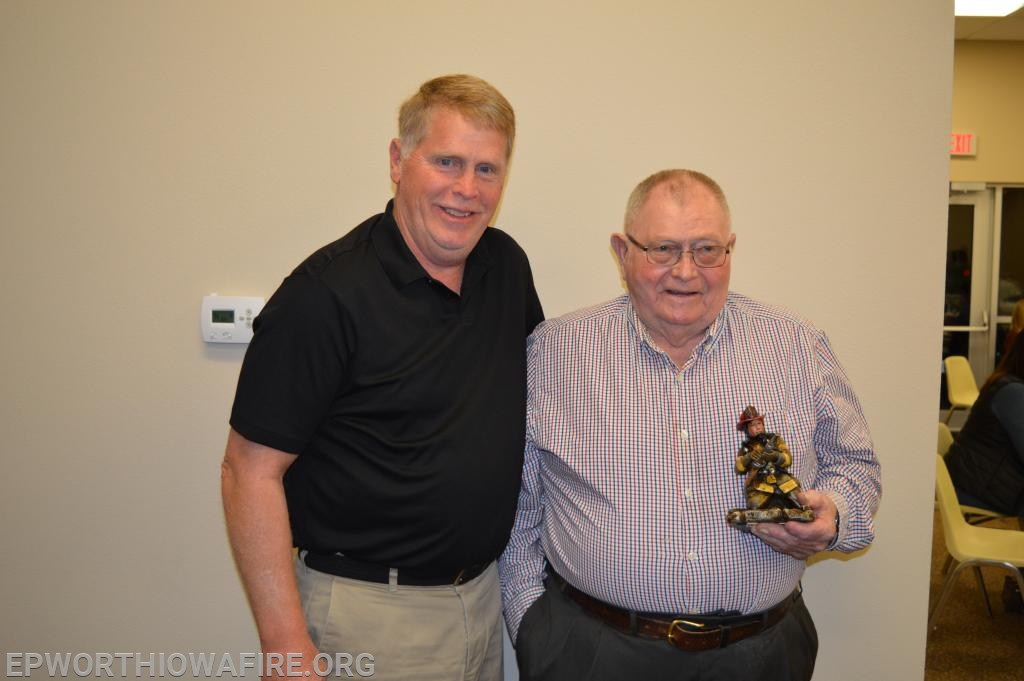 New Board Member Ken Beyer is pictured with his father Bill Beyer at the annual appreciation dinner.