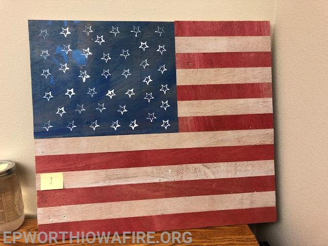 Flag Donated by Larry and Sharon Hosch