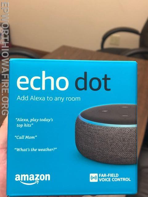 Echo Dot donated by Garry and Sue Gansen