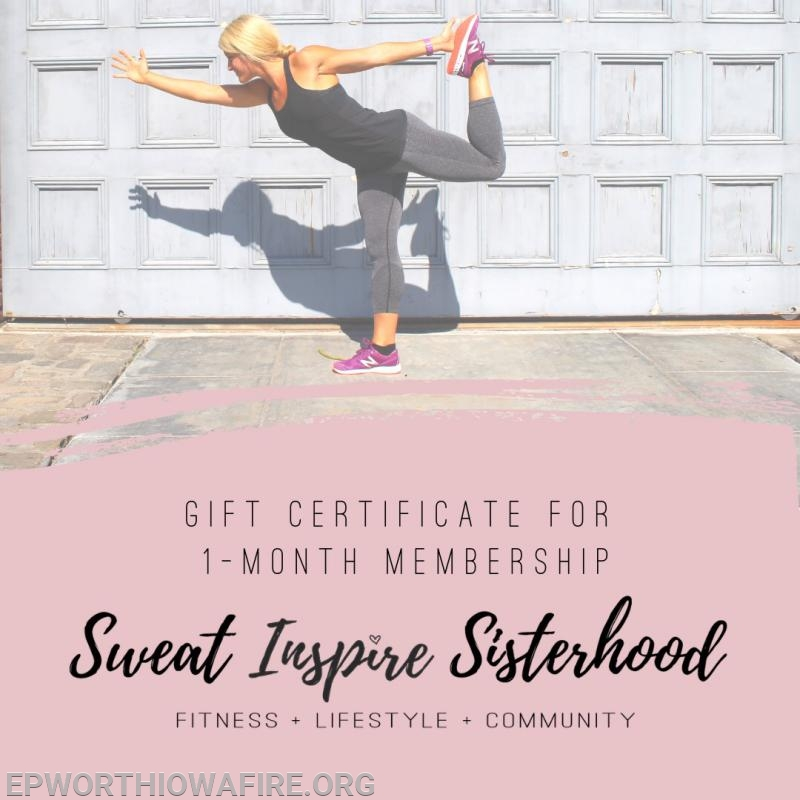 1 Month Membership to Drop 10 program. Donated by Sweat Inspire Sisterhood!
