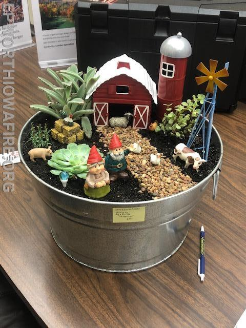 Gnome and succulent garden donated by Andy and Amanda Sprengelmeyer