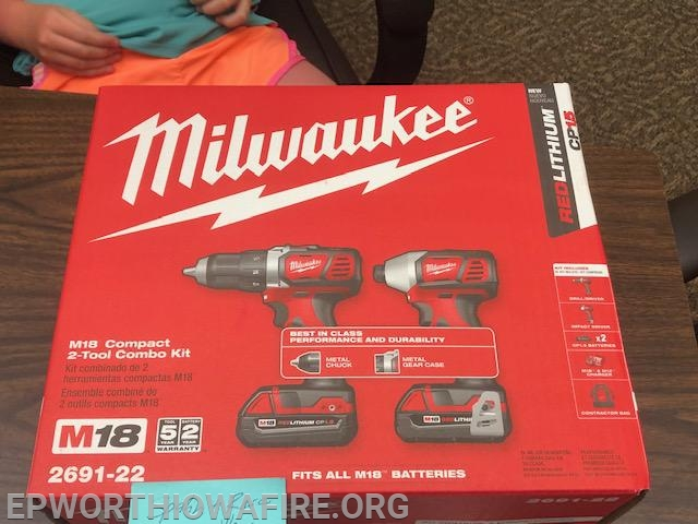 Milwaukee 18V Combo Set donated by Spahn and Rose Dyersville, IA