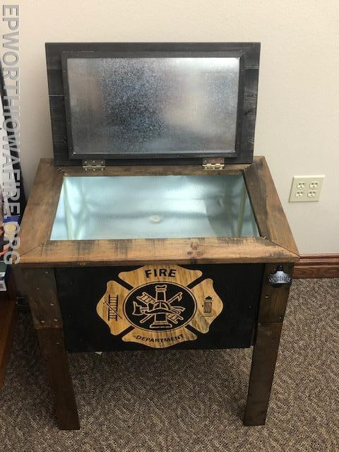 FD Ice Chest donated by Wertz's Gun's and Supplies Jim Wertzberger