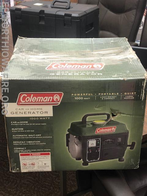Coleman 1,000 watt generator donated by Jerry and Sue Ostwinkle