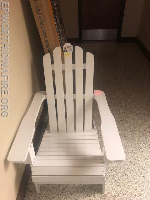 Wooden Beach Lounge Chair donated by Ron McCarthy American Realty