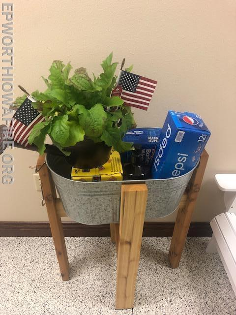 America Planter/ Deck Planter with Beverages donated by Tony and Janice Kraphl