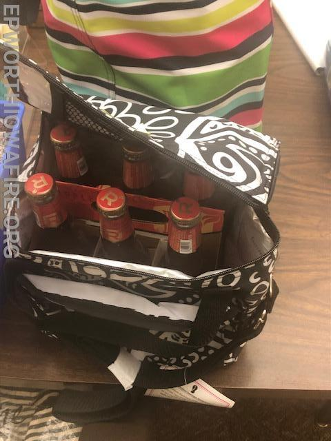 6 pk and a cooler donated by Kim, Kyle and Megan Knutson