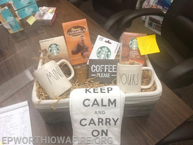 Coffee Basket donated by Dave and Andrea Theisen