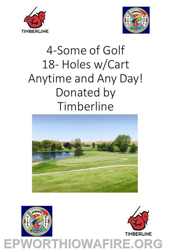 Donated by Timberline Golf Course