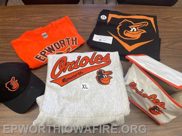 Epworth Orioles Apparel donated by Epworth Semi Pro Team