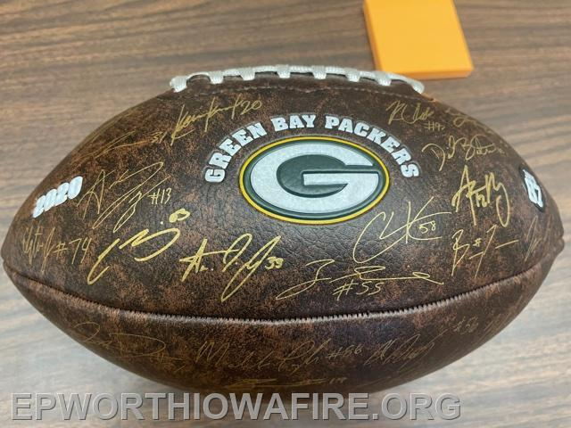 2020 Sign Football Green Bay Packers
