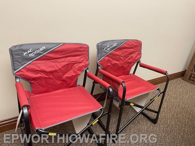 Mac Rocker Chairs donated by Joe and Coriane McQuillen