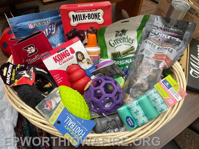 Dog Lovers Gift Basket donated by Briley Dog Grooming and Boarding