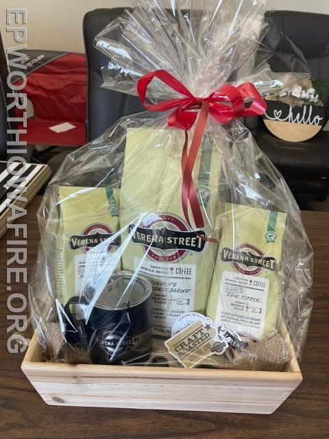 Coffee Lovers Basket donated by Verena St Coffee Co