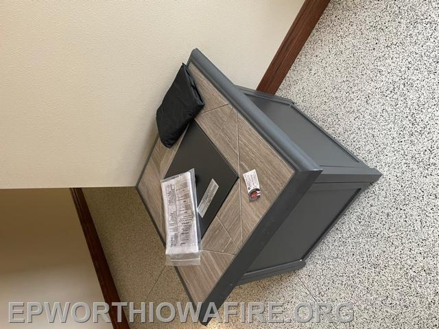 Gas Outdoor Fire Pit donated by Ron McCarthy American Realty