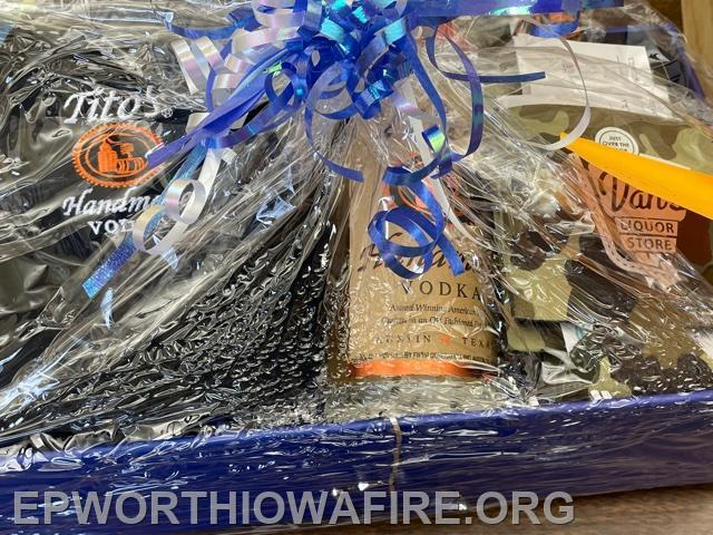 Tito's Gift Basket with $40 in Gift Certificates to Van's Liquor Store. Donated by Van's Liquor Store/The Jansen family