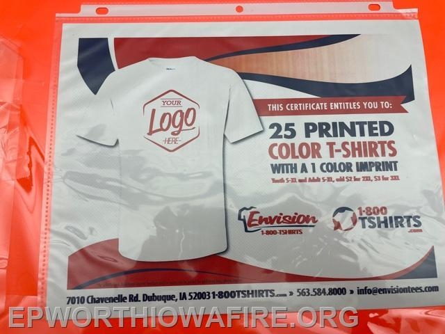 25 Printed Color T-shirt donated by Envision