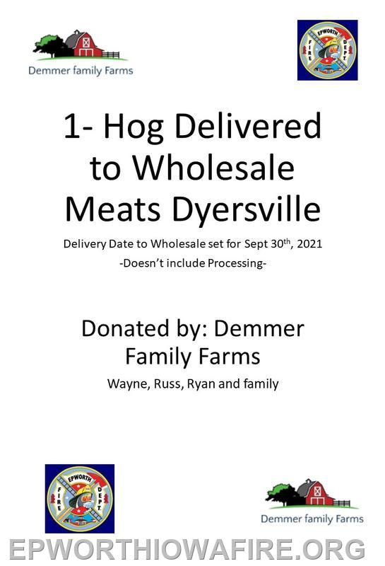 Demmer Family Farms Donated 2 of these!!!